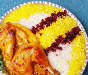 Saffron flavored chicken