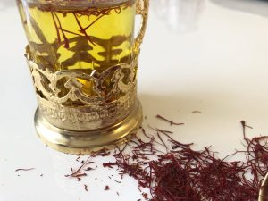 How to make saffron syrup